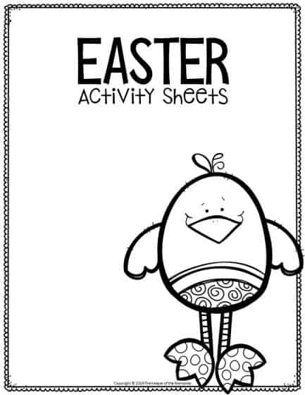 Fine Motor Printable Easter Activity Sheets