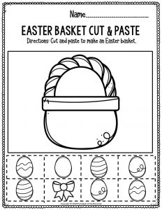 Fine Motor Printable Easter Activity Sheets Easter