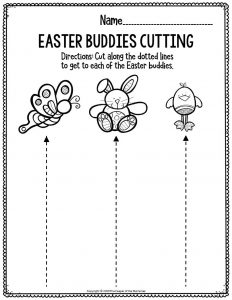 Fine Motor Printable Easter Activity Sheets Easter Buddies Cutting