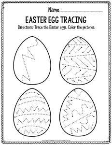 Fine Motor Printable Easter Activity Sheets Easter Egg Tracing
