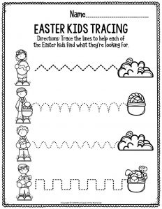 Fine Motor Printable Easter Activity Sheets Easter Kids Tracing