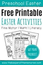 10+ Free Easter Printables for Preschoolers