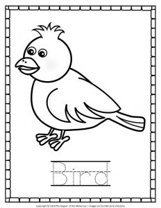 Free Printable Bird Coloring Pages