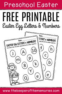Free Printable Easter Eggs Math & Literacy Activity