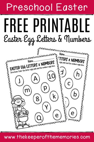 Free Printable Easter Egg Math & Literacy Activity