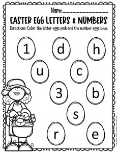 Free Printable Easter Eggs Math & Literacy Activity 1
