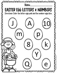 Free Printable Easter Eggs Math & Literacy Activity 2