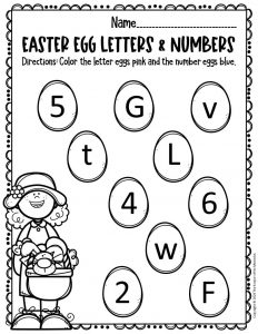 Free Printable Easter Eggs Math & Literacy Activity 3