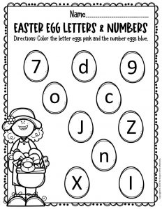 Free Printable Easter Eggs Math & Literacy Activity 4