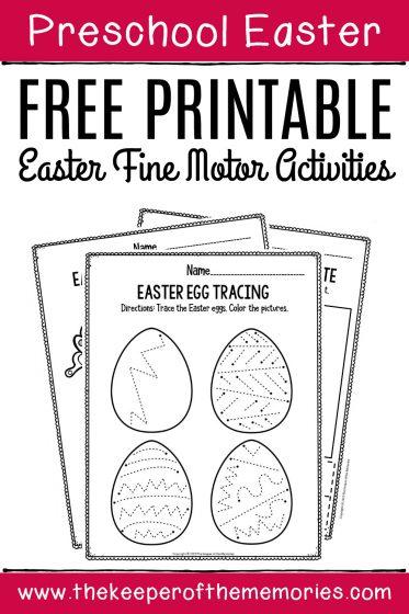 Free Printable Easter Fine Motor Activities Preschool Worksheets