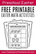 Preschool Math Printable Easter Activities