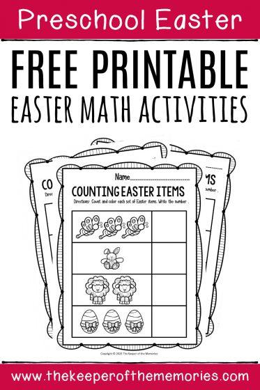 Free Printable Easter Math Activities Preschool Worksheets
