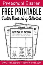 Preschool Measuring Free Printable Easter Activities