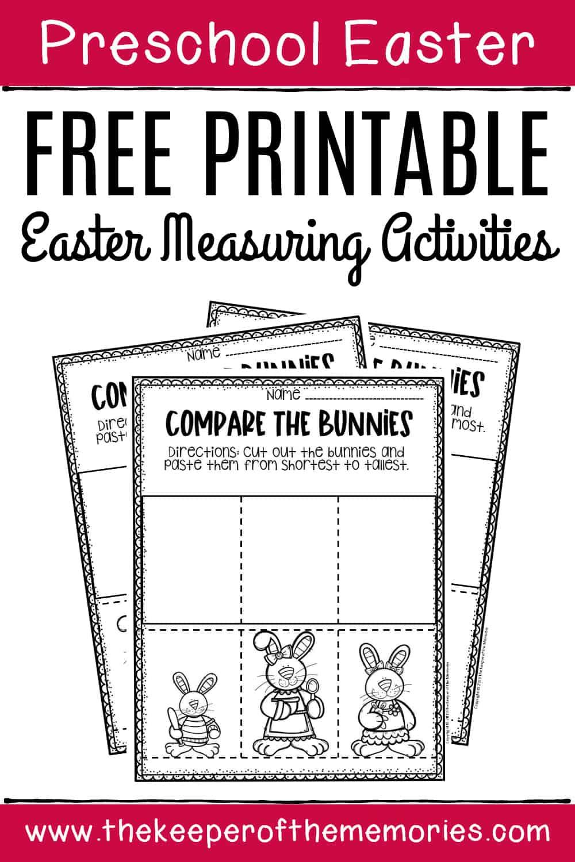 Preschool Measuring Free Printable Easter Activities