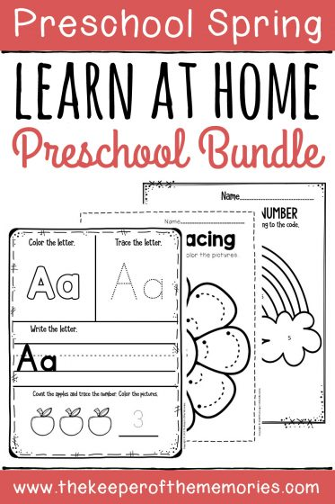 Learn at Home Spring Preschool Bundle