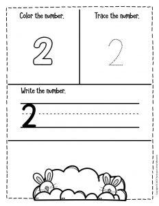 Numbers Easter Preschool Worksheets 2