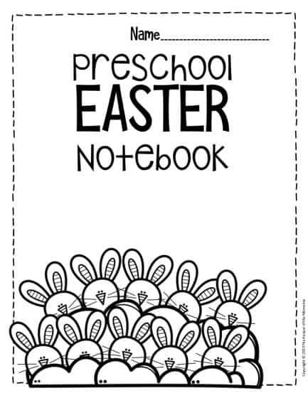 Numbers Easter Preschool Worksheets