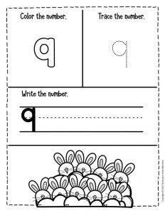 Numbers Easter Preschool Worksheets 9