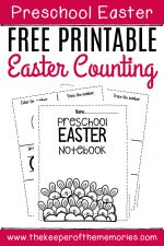 Numbers Easter Preschool Worksheets