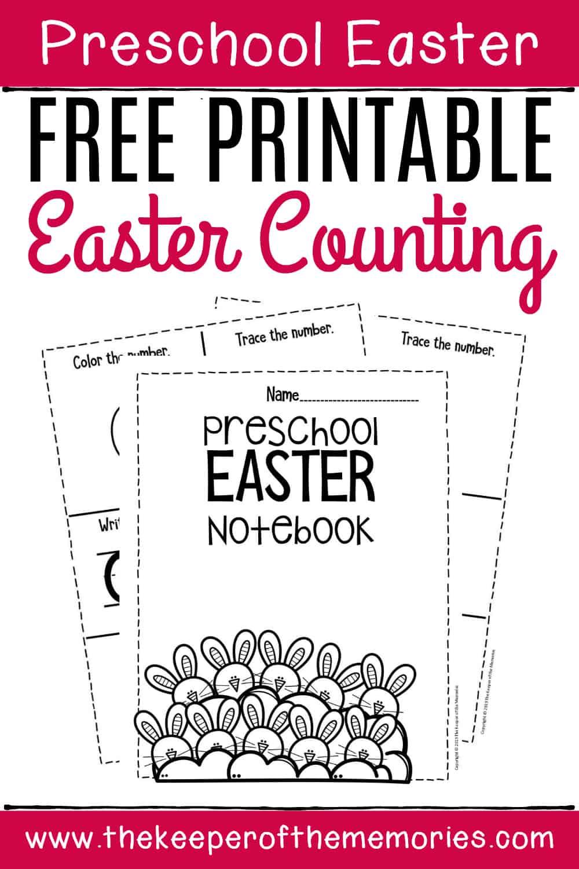Free Printable Numbers Easter Preschool Worksheets