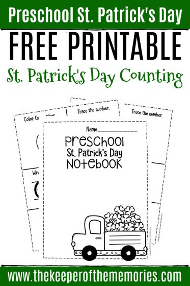 Numbers St. Patrick's Day Preschool Worksheets