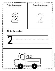 Numbers St. Patrick's Day Preschool Worksheets 2