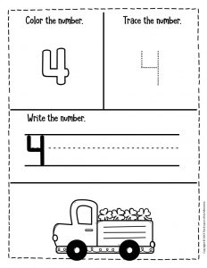 Numbers St. Patrick's Day Preschool Worksheets 4