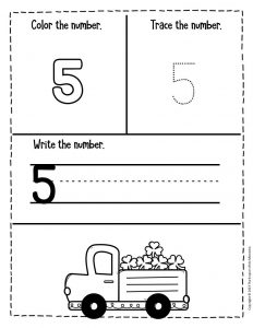 Numbers St. Patrick's Day Preschool Worksheets 5