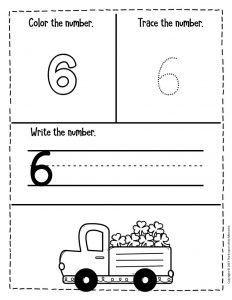 Numbers St. Patrick's Day Preschool Worksheets 6