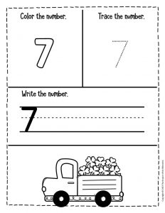 Numbers St. Patrick's Day Preschool Worksheets 7