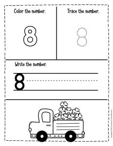 Numbers St. Patrick's Day Preschool Worksheets 8