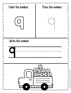 Numbers St. Patrick's Day Preschool Worksheets 9