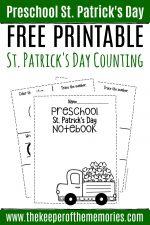 Numbers St. Patrick's Day Preschool Worksheets