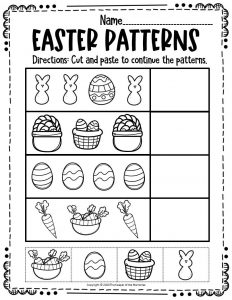 Patterns Easter Activity Sheets 1
