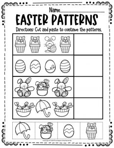 Patterns Easter Activity Sheets 2