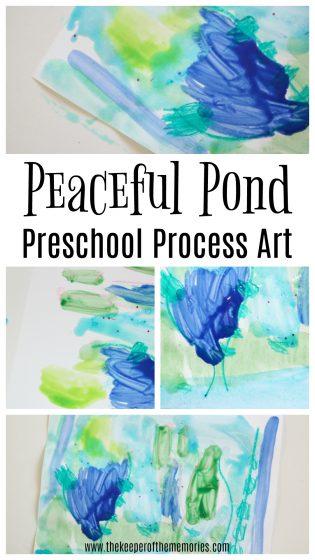 Peaceful Pond Preschool Process Art
