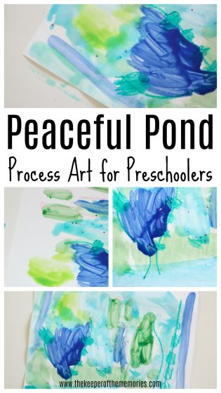 Peaceful Pond Process Art for Preschoolers