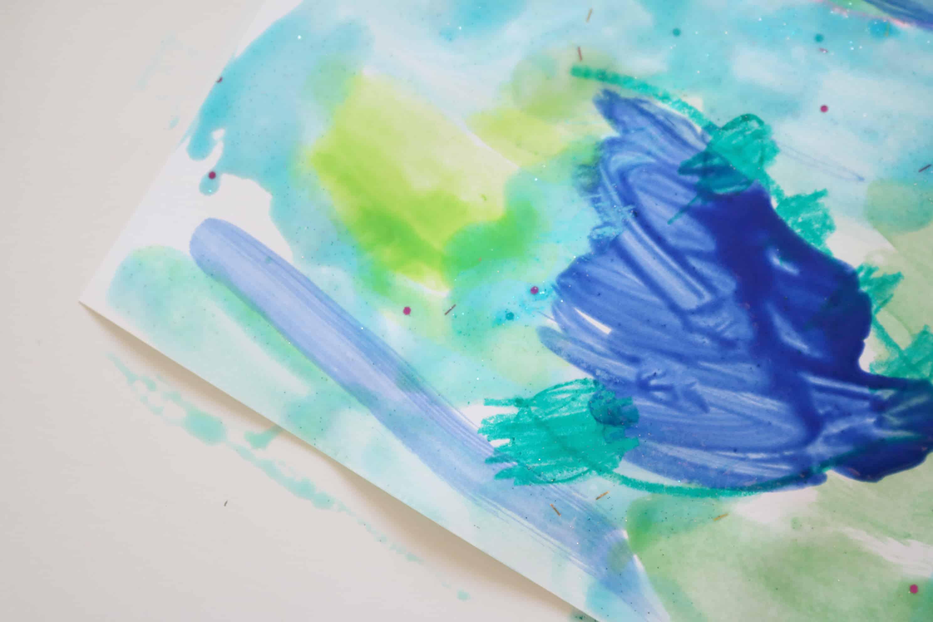 Peaceful Pond Art for Preschoolers