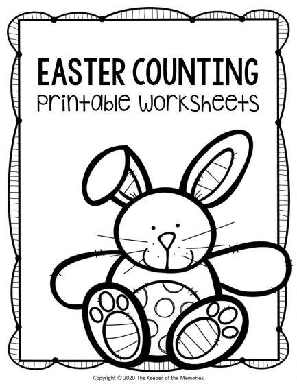 Preschool Math Printable Easter Activities