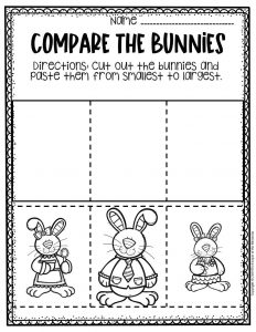 Preschool Measuring Free Printable Easter Activities Smallest to Largest