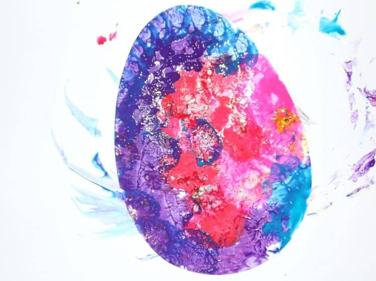 bird egg process art