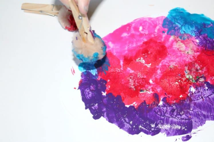 preschool painting cardstock egg