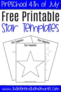 Free Printable Star Templates with text: Free Printable Star Templates
