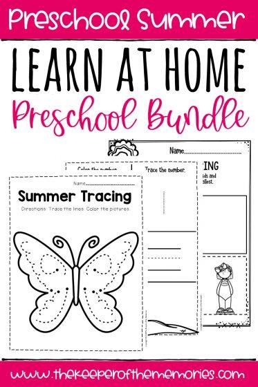 Learn at Home Summer Preschool Bundle