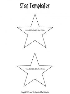 Medium Star Template