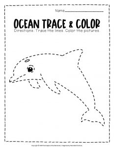 Ocean Tracing Worksheets Dolphin