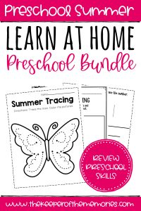 Preschool Learn at Home Bundle Summer