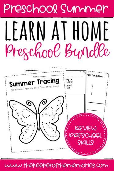 Preschool Learn at Home Bundle Summer