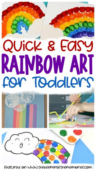 Quick & Easy Rainbow Art for Toddlers