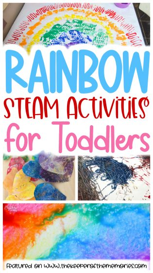 Rainbow STEAM Activities for Toddlers